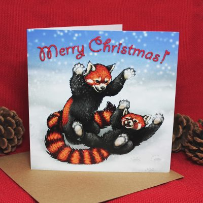 Snowfight Christmas Card