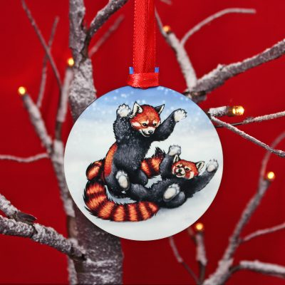 Snowfight Wooden Christmas Decoration