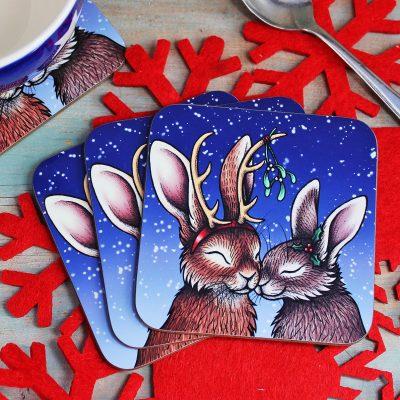 Single (x1) A Winter's Kiss Coaster