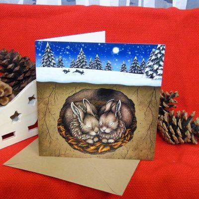 Christmas in the Burrow Christmas Card