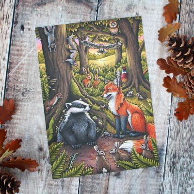 The Assembly – Animals of Farthing Wood Illustration – A4 Print