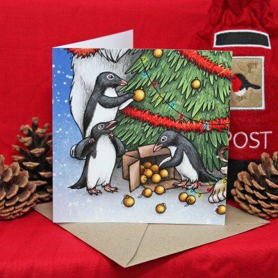 Having A Wild Christmas ~ Penguins Christmas Card