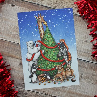 Having A Wild Christmas Illustration – A4 Print