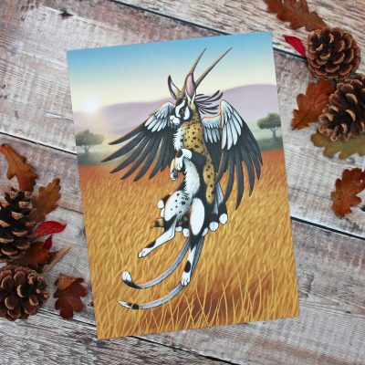 Savannah Wolpertinger Illustration – A4 Print